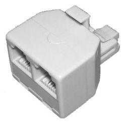 Access Communications P2200 RJ11 Double Adapter 6P4C