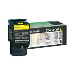 Lexmark C540A1YG Return Program Yellow Toner Cartridge (1K) - GENUINE