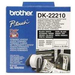 Brother DK-22210 White Continuous Paper Roll 29mm x 30.48m