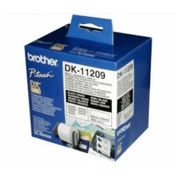 Brother DK-11209 White Small Address Label 29mm x 62mm 800 Labels/Roll