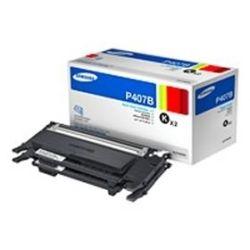 Samsung CLT-P407B/SEE CLT-P407B Twin Pack Black Toner - GENUINE
