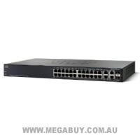 Cisco SRW224G4P-K9-AU SF 300-24P 24-Port 10/100 PoE Managed Switch w/Gig Uplinks