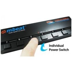 mbeat 4 Port USB 3.0 plus 3 Port USB 2.0 with Switches and Power Adapter  USB Hub
