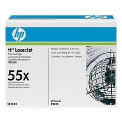 HP CE255X No.55X High Yield Black Toner Cartridge (12.5K) - GENUINE