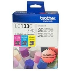 Brother LC133 3-Pack CMY Colour Value Pack (0.6K/ea)  - GENUINE
