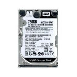 WD WD7500BPKX Black, 750GB, 7200rpm, 16MB, SATA III, 5YRS HDD Hard Disk Drive 2.5 inch