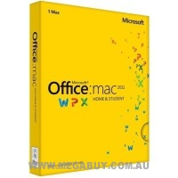 Microsoft GZA-00278 Office Mac Home and Student 2011 APAC 1 License DVD
