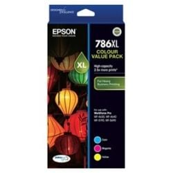 Epson T786XL Capacity 3 Colour Value Pack (Cyan, Magenta, Yellow)
