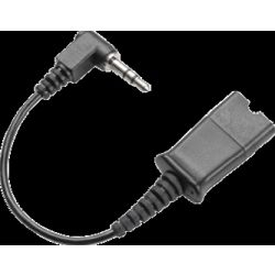 Plantronics Cable Assy 3.5 Mm Right Angle Plug with qd