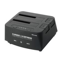 Welland Turbo Leopard ME-603E 2.5 + 3.5 SATA to USB 3.0 Dual Bay HDD Docking Enclosure - Black