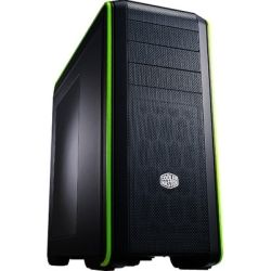 CoolerMaster CM690 III Mid Tower ATX Case with Side Panel Window - Black/Green