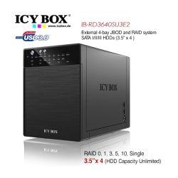 Icy Box IB-RD3640SU3E2 External 4-Bay JBOD System for 3.5 inch SATA HDDs