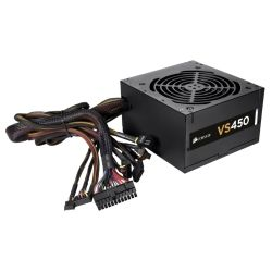 Corsair [CMPSU-VS450] 450W - ATX Power Supply, 120mm fan, 1x PCI-E, 4x SATA, 4x Molex, Single Rail Design, 3yr Wty