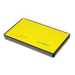 Orico 2.5 inch USB3.0 SATA HDD Enclosure - Yellow