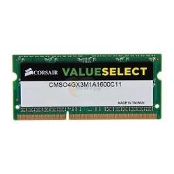 Corsair 4GB Module (1x 4GB) DDR3 1600MHz Unbuffered CL11 SODIMM, Limited Lifetime Warranty