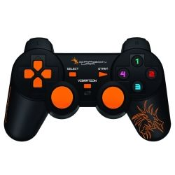 DragonWar Shock Wired Game Controller, Wired USB Plug & Play, 2 Vibration Motors, Compatible With Win, 1yr Wty Computer Components