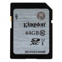 Kingston 64GB SDHC Class 10 UHS-I 80MB/S Read Flash Card Far East Retail