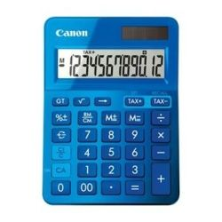 [LS123KMBL] Canon Dual Power Mini Desktop Calculator - 12 Digit  Upright-angled LCD display, Grand total function, Memory, Square Root and  Percentage