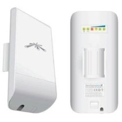 Ubiquiti LOCOM2, Indoor/Outdoor Wireless Access-Point, NanosStation M Combines Powerful airMAX CPE radio and MIMO Antenna array, 2.4GHz, 150+ Mbps, Ra