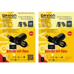 Davion Universal Phone Charger /Iphone4/4s/HTC/Samsung/Ipad/Ipod/All Tablets. Portable Battery