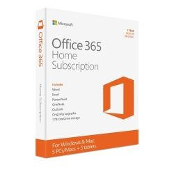 Microsoft Office 365 Home Mac/Win, No DVD Retail Box 1yr Subscription P2