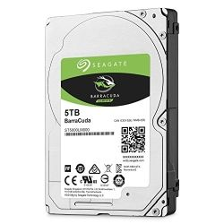 Seagate BarraCuda 5TB Hard Disk Drive HDD - 2.5 inch, SATA 6Gb/s, 5400rpm, 15mm