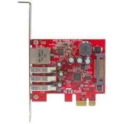 StarTech 3Pt PCIe USB 3.0 Card + Gigabit Ethernet