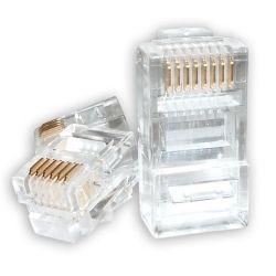 Astrotek RJ45 Connector Modular Plug Crimp 8P8C Cat5e LAN Network Ethernet Head 2 Prong Blade 3u' Transparent (pack of 20pcs)