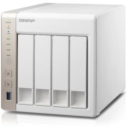Qnap 4-Bay NAS Tower - Quad Core 2.4 2GHz Celeron Processor, 2GB RAM