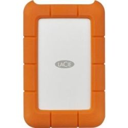 LaCie 4TB Rugged Portable External Hard Disk Drive HDD - 2.5 inch, USB-C, 2yr Wty