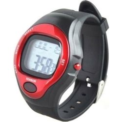 OEM Exercise Pulse Heart Rate Monitor Calorie Counter Sports Watch Red