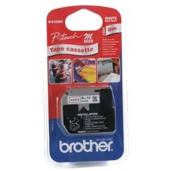 Brother MK222 Red Printing on White P Touch Tape - GENUINE