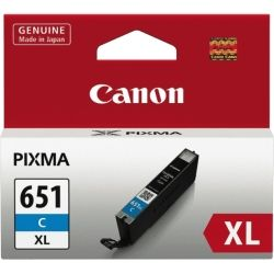 Canon CLI651XLC Cyan Extra Large Ink Cartridge - GENUINE