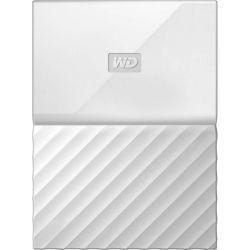 WD My Passport 2TB Portable External Hard Disk Drive HDD - USB 3.0, 3yr Wty - White
