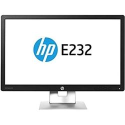 HP EliteDisplay E232 23 inch FHD IPS LED Monitor - 1920x1080, 16:9, 5ms, DisplayPort, HDMI, VGA, VESA, 12 Mth Wty (Refurbished) Computer Components