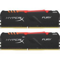 Kingston HyperX 16GB 2666MHz DDR4 CL16 DIMM (Kit of 2) 1Rx8 HyperX Fury RGB