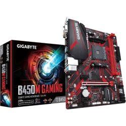Gigabyte B450M Gaming AMD Ryzen ATX 2x DDR4 3x PCIe HDMI 1x M.2 4xSATA RAID GbE LAN 6x USB3.1 6x USB2.0 RGB