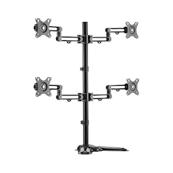 Brateck Quad Monitor Premium Articulating Aluminum Monitor Stand
