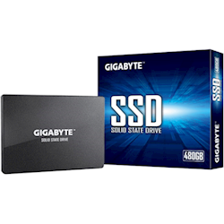 Gigabyte 480GB SSD, 2.5 inch SATA, up to Read 500MB/s, Write 480MB/s, 200TBW, 3yr Wty