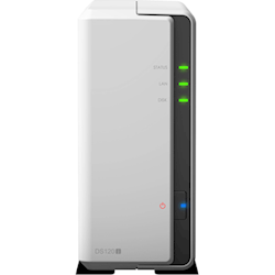 Synology DiskStation DS120j 1-Bay NAS 3.5 inch Diskless 1xGbE (Tower) (SOHO) Marvell 800MHz 2x USB2 2yr Wty Comes with 2 Camera Licenses