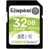 SD / SDHC / MicroSD Cards - Kingston 32GB SDHC CANVAS SELECT 80R CL10 UHS-I Flash Card | MegaBuy Computer Parts