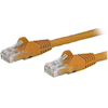 StarTech - StarTech 0.5m Orange Snagless Cat6 Patch Cable | MegaBuy Computer Store Computer Parts
