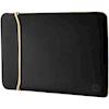 Laptop Carry Bags & Sleeves - HP 15.6IN Reversible Sleeve Black/Gold | MegaBuy Computer Parts