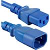 UPS Accessories - 4Cabling 1.5m IEC C13 to C14 Extension Cord M-F: Blue | MegaBuy Computer Store Computer Parts