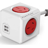 Powerboards - Allocacoc PowerCube Extended 4 Outlets with 2 USB 3M Red (LS) | MegaBuy Computer Store Computer Parts