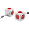 Powerboards - Allocacoc PowerCube Extended 5 Outlets 3M Red (3979) (LS) | MegaBuy Computer Store Computer Parts