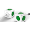 Powerboards - Allocacoc PowerCube Extended 5 Outlets 3M Green (LS) | MegaBuy Computer Store Computer Parts