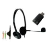 Headsets - Shintaro Stereo Headset with Inline Microphone plus USB Audio Adapter with | MegaBuy Computer Store Computer Parts