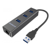 USB Hubs - Simplecom CHN410 Black Aluminium 3 Port USB 3.0 HUB with Gigabit Ethernet | MegaBuy Computer Store Computer Parts